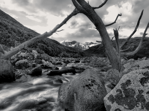Black and White-Mountain-Stream-longgoodbye
